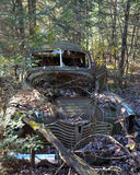 Abandoned rusty old car Royalty Free Stock Photography