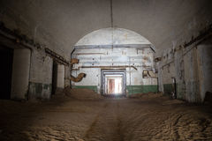 Abandoned and rusty old soviet bunker warehouse Stock Photography