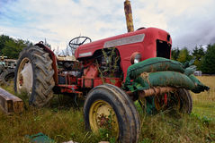 Abandoned rusty old tractor Royalty Free Stock Photos