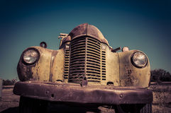 Abandoned rusty old truck