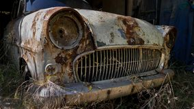 Abandoned Rusty Opel Royalty Free Stock Image