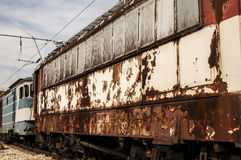 Abandoned rusty railcars Royalty Free Stock Image