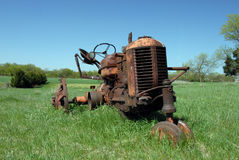 Abandoned Rusty Tractor Royalty Free Stock Photos