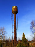 Abandoned rusty water tower Royalty Free Stock Image
