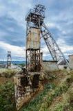 Abandoned salt mine. Earthy rock collapse Stock Photos