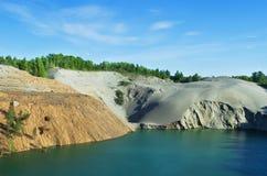 Abandoned sand quarry Stock Image