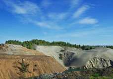 Abandoned sand quarry Stock Images