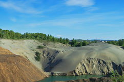 Abandoned sand quarry Royalty Free Stock Photography