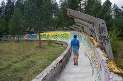 Abandoned Sarajevo Olympic Bobsleigh and Luge Track, Bosnia. And Herzegovina Royalty Free Stock Image