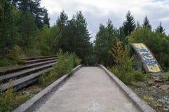 Abandoned Sarajevo Olympic Bobsleigh and Luge Track, Bosnia. And Herzegovina Stock Photos