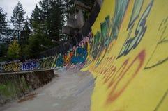 Abandoned Sarajevo Olympic Bobsleigh and Luge Track, Bosnia. And Herzegovina Stock Image
