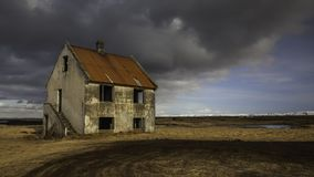 Abandoned Scary House With Dramatic Clouds Royalty Free Stock Image