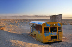 Abandoned school bus Stock Image