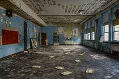 Abandoned School Cafeteria Royalty Free Stock Image