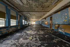 Abandoned School Cafeteria Stock Photography