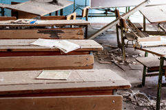 Abandoned school in Chernobyl Royalty Free Stock Images