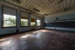 Abandoned School Classroom Stock Photography