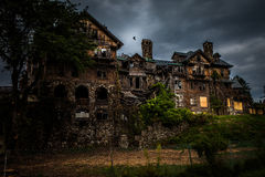 Abandoned school for girls. Abandoned spooky school for girls Stock Photography