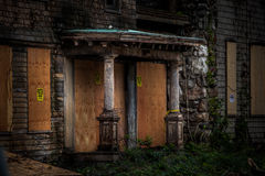 Abandoned school for girls. Abandoned spooky school for girls Royalty Free Stock Photos