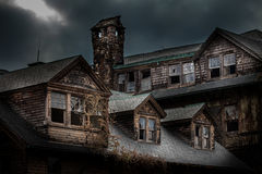 Abandoned school for girls. Abandoned spooky school for girls Stock Images
