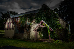 Abandoned school for girls. Abandoned spooky school for girls Royalty Free Stock Image