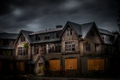 Abandoned school for girls. Abandoned spooky school for girls Royalty Free Stock Photography