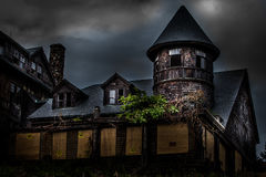 Abandoned school for girls. Abandoned spooky school for girls Royalty Free Stock Images