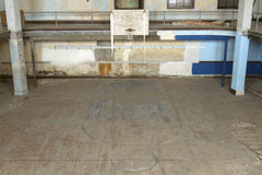Abandoned  school gym Royalty Free Stock Photos