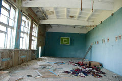 Abandoned School Gym In The Chernobyl Zone Royalty Free Stock Photos