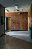 Abandoned School Hallway Royalty Free Stock Image