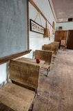 Abandoned School House red apple Royalty Free Stock Images