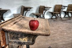 Abandoned School House red apple Royalty Free Stock Photos