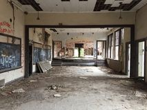 Abandoned School. A lonely abandoned school stock photography