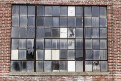Abandoned School Power Plant with Broken Windows I Royalty Free Stock Photo