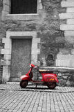 Abandoned scooter Royalty Free Stock Image