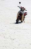 Abandoned Scooter On A Beach In Zanzibar Royalty Free Stock Photography