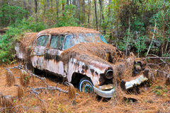 Abandoned Scrap Car Royalty Free Stock Images