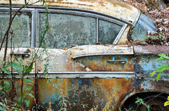 Abandoned Scrap Car Stock Image