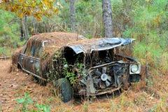 Abandoned Scrap Car Stock Photo