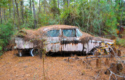 Abandoned Scrap Car Royalty Free Stock Photography