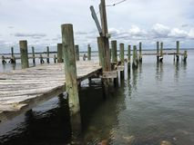 Abandoned sea dock2 royalty free stock images