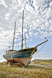 Abandoned seglar fartyget Royaltyfri Fotografi