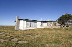 Abandoned Shack. Beach shack left abandoned on the east coast of Tasmania, Australia Stock Image