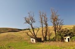 Abandoned shack in farmland Royalty Free Stock Photo