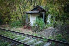 Abandoned shack stationmaster Stock Photography