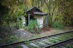 Abandoned shack stationmaster Stock Image