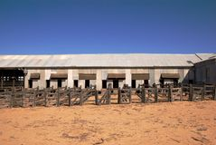 Abandoned shearing shed Royalty Free Stock Image