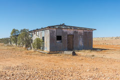 Abandoned shearing shed in outback Australia. Stock Photo