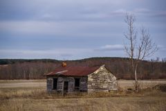 Abandoned shed. Old abandoned shed in rural Alliston Ontario Canada Stock Images