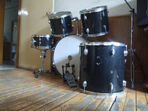 Abandoned shelf drum Royalty Free Stock Image